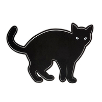 High Quality Custom Made Cheap ODM/OEM Lovely Black Cat Waterproof Self Adhesive PP Sticker Cartoon Sticker for Children Kids