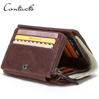 Practical Yet Slimline Notes Coin Cards Holder Multiple Wallets RFID Blocking Proof Men's Leather Wallet