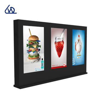 Out of home LCD video wall 55 inch network digital signage display outdoor LCD android medium ad player with multi screens