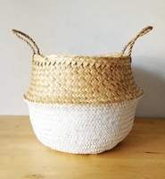 High Quality best selling seagrass storage belly baskets for home or hotel decoration made in Viet Nam