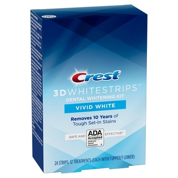 Crest 3d Whitestrips Vivid White 1 Box 12 Pouches 24 Strips Teeth