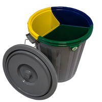 Waste plastic recycling bucket 50LT with 3 inner buckets