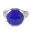 Wholesale Supplier Natural Blue Onyx Gemstone 925 Sterling Silver Ring