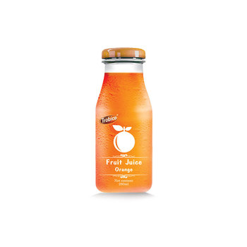 Best Supplier For 280ml Orange in Glass Bottle from Vietnam