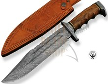 Damascus Bowie mes/Damascus <span class=keywords><strong>Jachtmes</strong></span>/Damascus Vaste Mes RJX0198