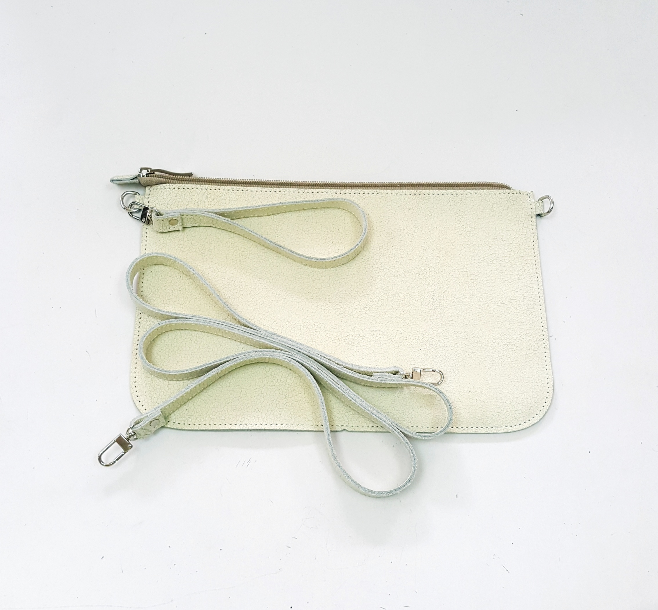 Fancy white Leather Shoulder Bag Cosmetic Bag Travel Set