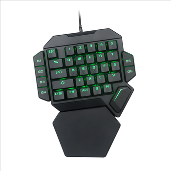 K50 Colorful Lights Mechanical Wired 35-Keys One-handed Keyboard USB Wired Single Hand Gaming Keyboard