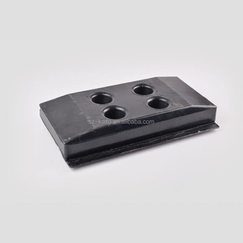 Asphalt paver crawler track units rubber track pads/shoes