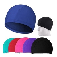 New lycra swimming caps,polyester swimming caps,promotion custom logo caps