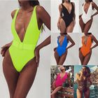 V Neck Swimwear 2019 Women Belt Bodysuit One-Piece Swimsuit
