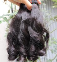 wholesale Vietnamese Funmi magic weft hair,100% natural Vietnamese human hair affordable price in hair extension