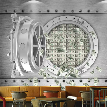 3D stereo personality creative safe US dollar mural wallpaper home decoration