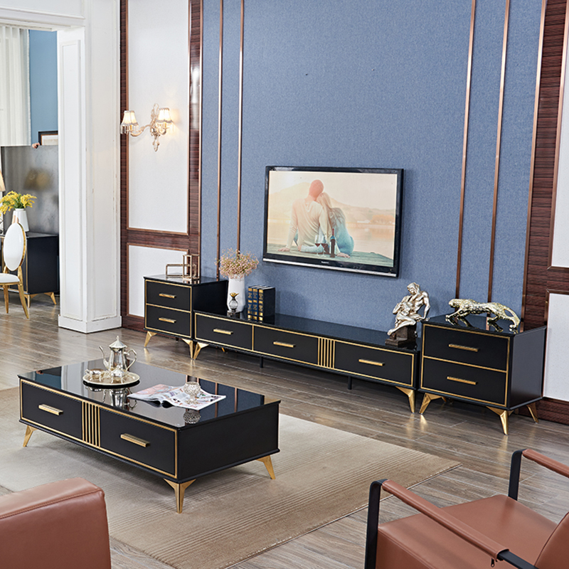 Luxury Tv Stand Stainless Steel Frame
