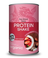 Organic Vegan Plant-Based Protein Shake With Strawberry And Coconut Private Label | Wholesale | Bulk Made in EU