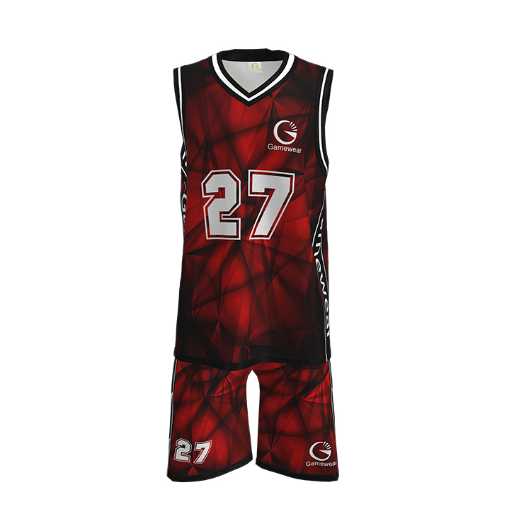 Benutzerdefinierte reversible Sublimated Basketball Jersey Uniform Design