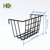 White metal storage basket for gridwall panel