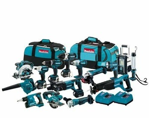 100% original Makita LXT1500 18-Volt LXT Lithium-Ion Cordless 15-Piece Combo Kit / power tool / cordless drill