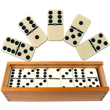 Indoor Wooden domino box game educational game for adult and children