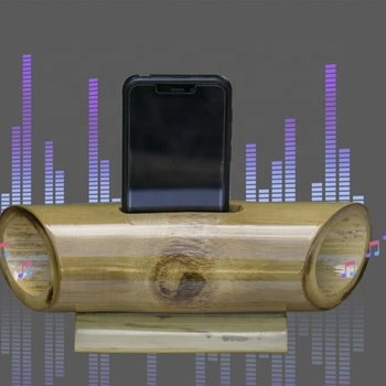 Bamboo Sound Amplifier for Mobile Holder - Sound Booster For All Types of Mobile Phone