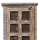Distressed Finish Slim Almirah or Living Room Side Cabinet