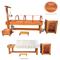ROYAL PANCHAKARMA WORK STATION Ayurveda Table beauty bed panchkarma full body massage therapy salon product hot sale wooden