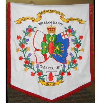 Hand Embroidery Flag Custom Made Marching Band Banner - Buy Embroidered  Flags And Banners,Decorative Flags Banners,Custom Hand Flags Product on