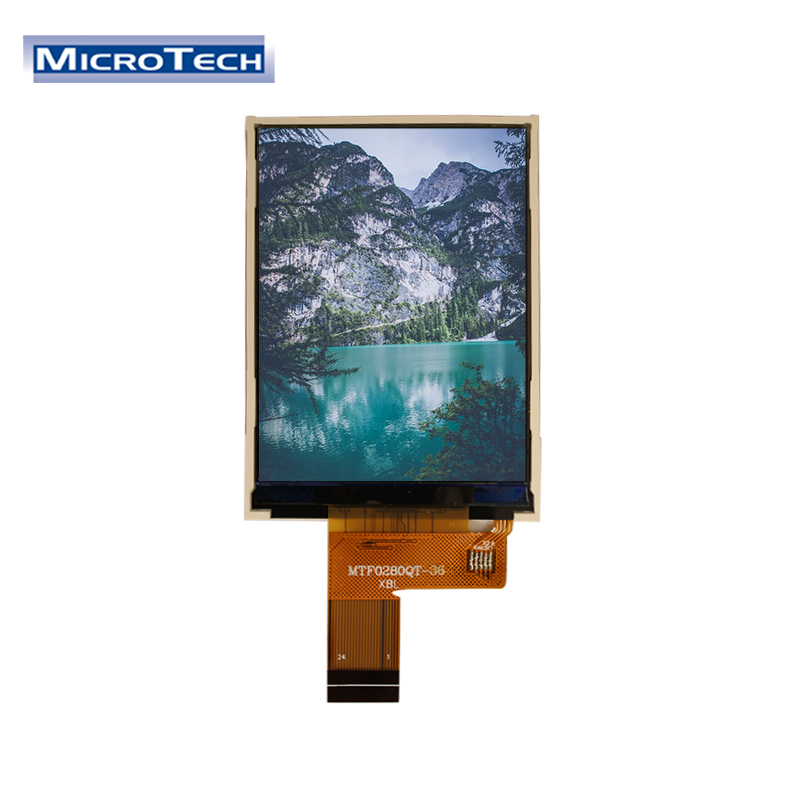 240x320 Fast Delivery 24 핀 Flexible Printed Circuit 2.8 Inch Small Size Touch Screen Monitors