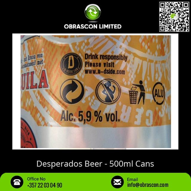500 Ml Desperados Beer In Cans At Wholesale Price From Best Brand Buy Desperados Beer Desperados Beer Desperados Product On Alibaba Com