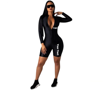 2019 Autumn spring Long Rompers Slim Full Overalls Women Sexy Turtleneck Bodysuits Bodycon cotton spandex one piece Jumpsuits