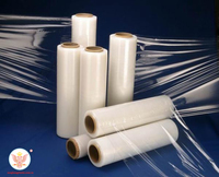 Premium quality soft transparent food / packaging plastic film roll / stretch film