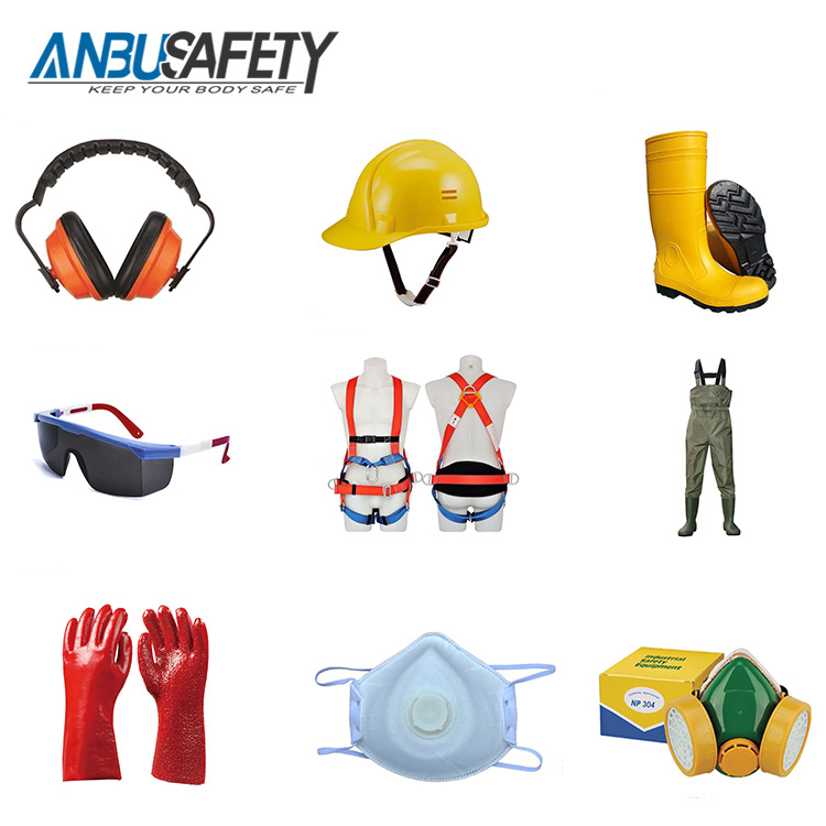 PPE health and safety equipment for construction