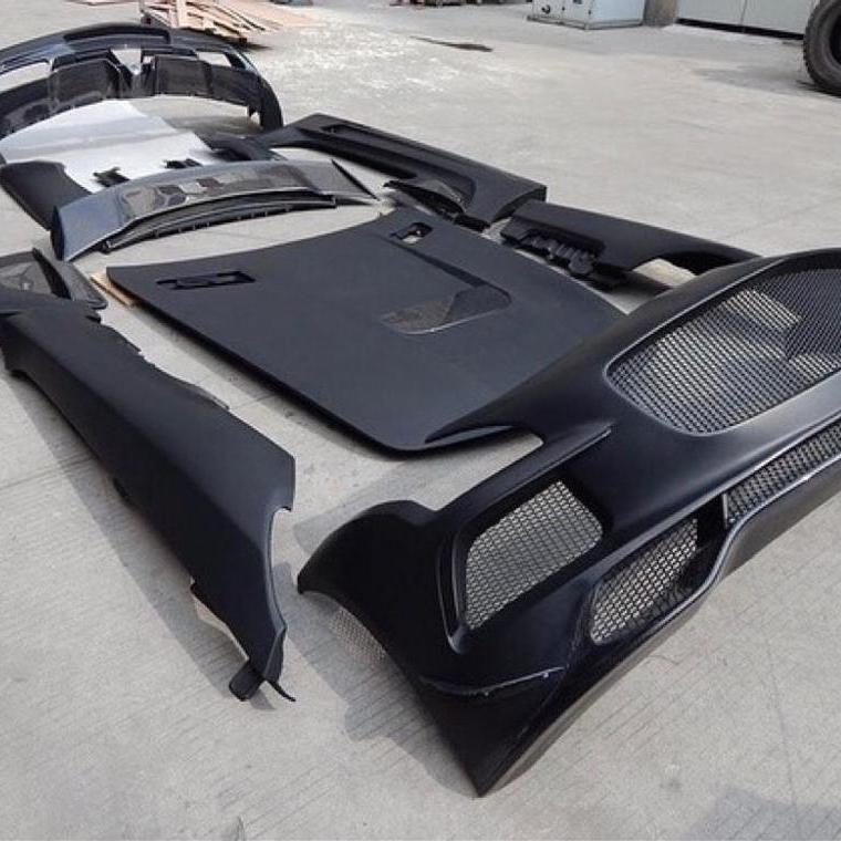 fits for Mercedes Benz GLE Class C292 Coupe GLE43 GLE63 AMG 2015-2018 Carbon Fiber Rear Bumper Fender Vent Trim Cover Scoop Spoiler JC SPORTLINE C292 CF Rear Splitters