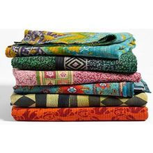 Vintage Kantha <span class=keywords><strong>couette</strong></span> Qualité Main Couture Réversible En Gros Lot Coton Kantha <span class=keywords><strong>Couette</strong></span>/Couverture/Jet/Bohème/Couvre-lit