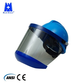 Blue Eagle Arc Flash Protection Safety Helmet Visor With Chin Guard