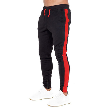 latest trousers design for men navy blue casual sweatpants custom print gym joggers