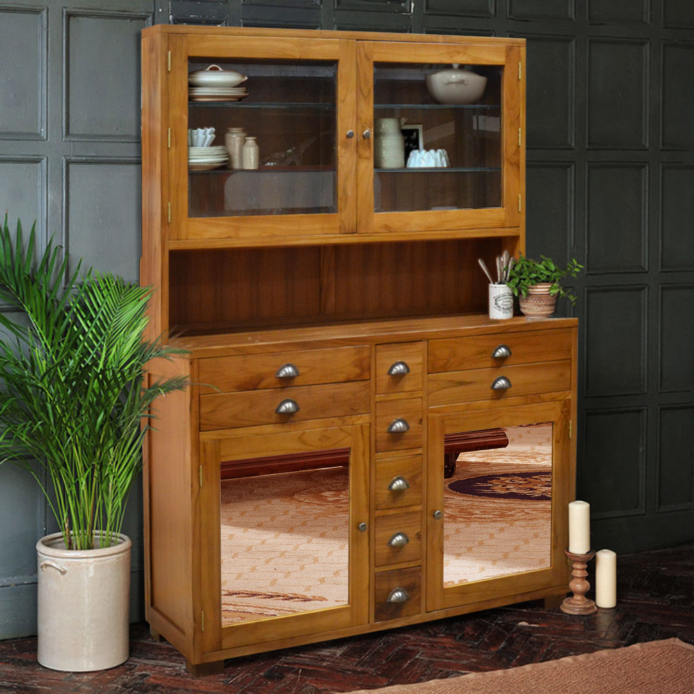 Kitchen Cabinet Solid Teak Wood Combination With Glass Doors Natural Color Buy Modular Kitchen Cabinet Color Combinations Poplar Solid Wood Kitchen Cabinet Kitchen Cabinet Product On Alibaba Com