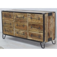 Wholesale Wooden Metal Multi Drawer Reproduction vintage industrial furniture