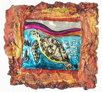 Deniz Kaplumbagasi Hayvan Sanat Boyama El Boyali Tahsil Tribal