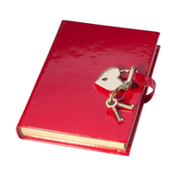 New style leather diary with lock and key