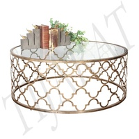 METAL ROUND COFFEE TABLE / MODERN CENTER TABLE / SOFA TABLE