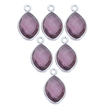 <span class=keywords><strong>Amethyst</strong></span> Marquise Form Lünette Anhänger-Februar Birthstone Charms Anhänger