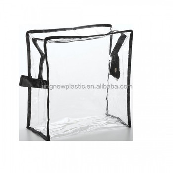 Clear Plastic PVC Zipper bag with handle