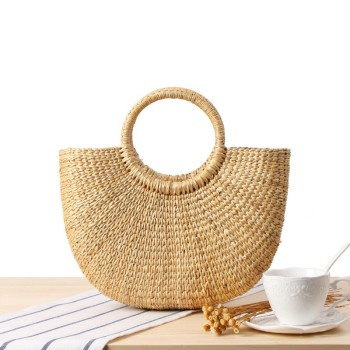 Low Price Beach Bag Water Hyacinth Handbag Whole Straw Tote Handbags Summer