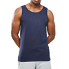 2019 Wholesale New Style Men Cotton Fabric Navy Workout Tank Top With Your Own Design