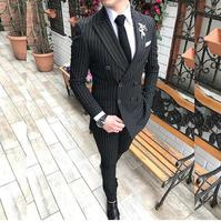 New Design Turkish Mens Suits Direct OEM Customized Italy Design Double Breasted Man Suit