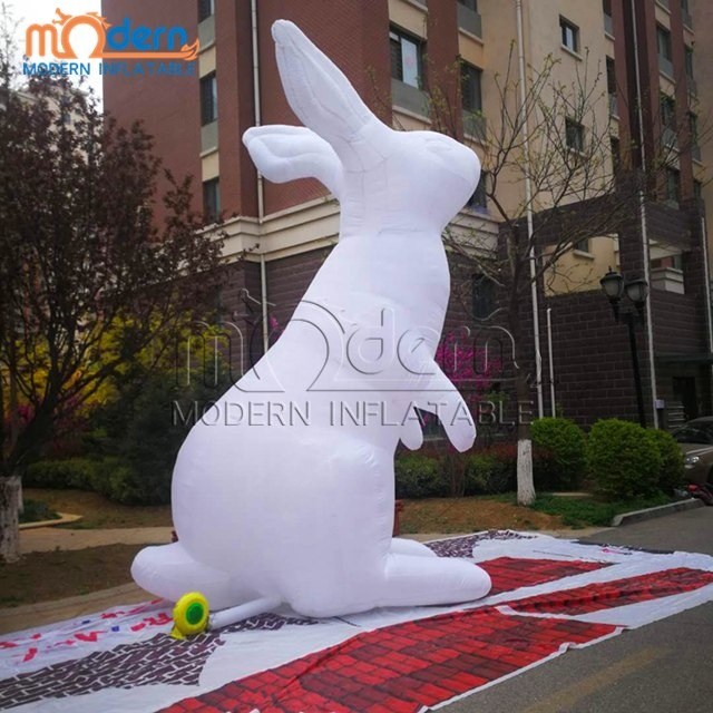 Giant Inflatable White <strong>Rabbit</strong> For Easter Holiday Decoration