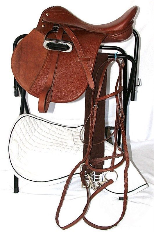 2020 High Quality Adults Outdoor Sports English Style Leather Made Horse Riding Saddles By Lazib Sports