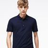 Latest design plain dark blue cotton solid men polo t shirt