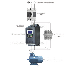 Hot selling 450KW Soft Starter with Current 900A 3 Phase AC Digital Variable Speed Drives