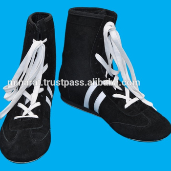 Black Boxing Shoes Training Shoes Lace up shoe,Long straining shoes